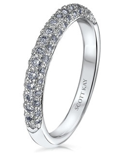 Scott Kay's matching bands are also available in Platinum, 18k white gold, 18K yellow gold, 14K yellow gold, and palladium.