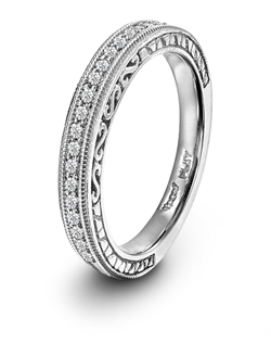 Novell Design Studio platinum and diamond wedding band.