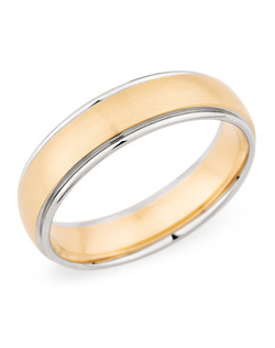 6MM BAND WITH ROSE GOLD CENTER AND WHITE GOLD EDGE (two tone ring)