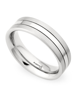 6.5MM BAND WITH HIGH POLISH CENTER LINE