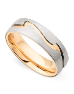 6.5MM BAND WITH ROSE GOLD ACCENT