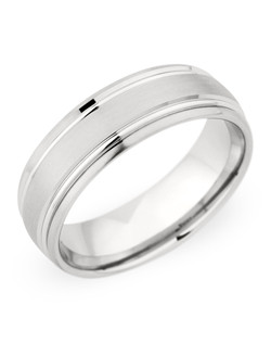 7MM BAND WITH HIGH POLISH DETAIL , COMBINATION FINISH