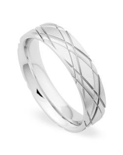 5.5MM BAND WITH CRISS-CROSS DESIGN