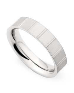 5.5MM BAND WITH GEOMETRIC PATTERN