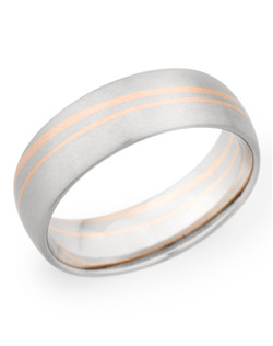 7MM BAND WITH RED GOLD STRIPES
