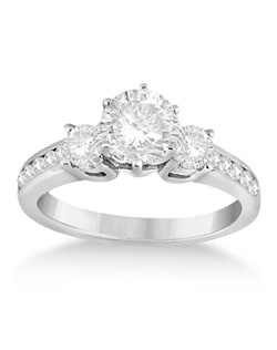 This gorgeous engagement ring includes twelve round diamonds (two large diamonds combined with 10 smaller diamonds) for a total weight of 0.45 carats. Choose your own center stone to complete this gorgeous engagement ring to your exact specifications.