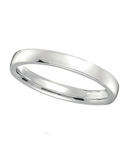 Illustrate your love with this classy palladium wedding band. The band has squared sides, and a rounded interior surface, providing you with the ultimate comfort.