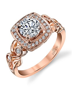Rouse your senses with this romantic rose gold engagement ring from the Lyria Collection.(0.22 ct tw) Available in platinum, 18K white, 18K yellow, or 18K rose gold. All Parade Design styles can be customized upon request.