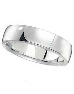 Illustrate your love with this classy palladium wedding band for men. This simple and elegant wedding ring band has squared sides, and a rounded interior surface, providing you with the ultimate comfort.