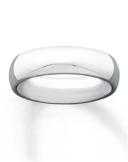 This classic high-polish wedding band for him is 6mm in width and is styled in 10K white gold. The ring has a Supreme-Fit™ band for maximum comfort and durability.