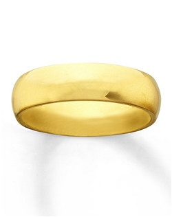This 6mm wedding band for him is simply handsome and extremely durable. Crafted of high-polish 10K yellow gold, this ring has a Supreme-Fit™ band.