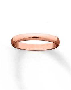 Classic design with a romantic touch, this 3mm wedding band for her is fashioned in lovely 10K rose gold.