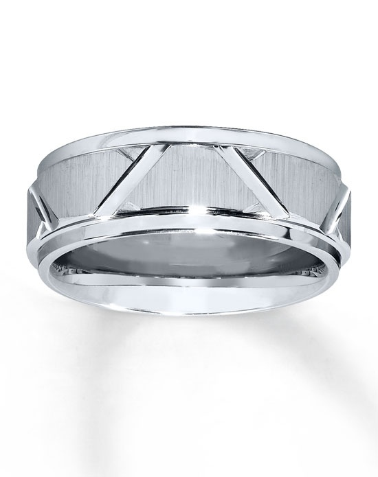 Kay Jewelers Gray Tungsten Carbide 8mm Wedding Band 252105604 Gray Tungsten Carbide 8mm Wedding