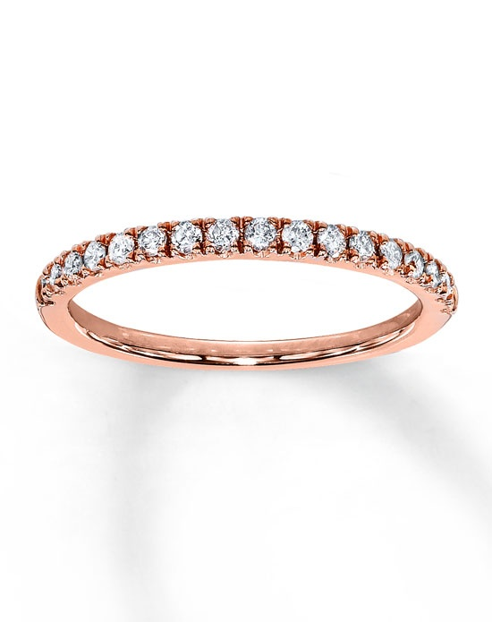 Kay Jewelers Diamond Anniversary Band 10K Rose Gold Round 1 4ct tw