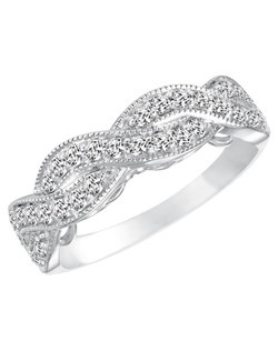 14kt White Gold 3/4ctw  Ladies Wedding Band. With Round Prong  Set diamonds