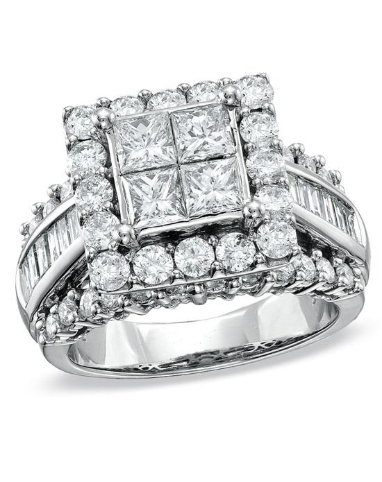 zales 3 ct t w princess cut engagement ring