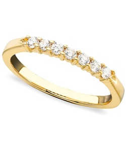 1/4cttw 7stone anniversary band in 14k yellow  gold