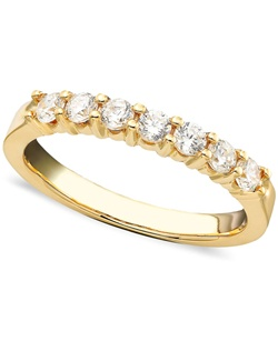 1/2cttw 7stone anniversary band in 14k yellow  gold