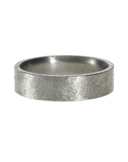 Titanium band, coining on edges - brushed finish