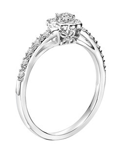 14kt White Gold 1/4ctw  Ladies Engagement Ring. With Round Prong  Set diamonds