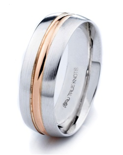 What's your story? It may be expressed with this 7mm wedding band designed by TRUE KNOTS for the TRUE MAN® collection. This wedding band may be customized to your desired width, finish, and metal type. Available in platinum, gold, and palladium.
