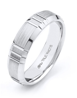 What's your story? It may be expressed with this 6mm wedding band designed by TRUE KNOTS for the TRUE MAN® collection. This wedding band may be customized to your desired width, finish, and metal type. Available in platinum, gold, and palladium.