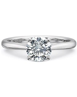 This diamond engagement ring setting by Precision Set features a classic tapered shank that beautifully shows off your choice of center diamond.