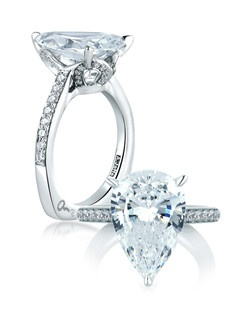 Pear One Of A Kind Statement Engagement Ring, MES419