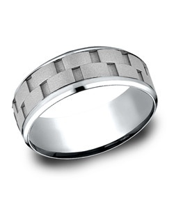 This stylish comfort-fit Cobalt band features a uniquely cut center that creates an illusion of being multiple pieces.