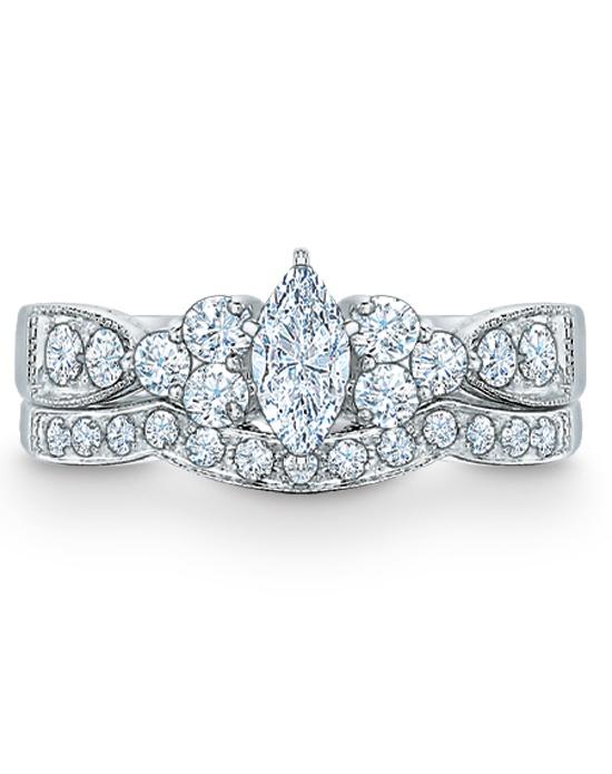 Zales 1 CT T W Marquise Diamond Bridal Set in 14K White Gold Weddi