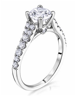 Through handcrafted design and sculpting through feeling, the Radiance engagement ring siginifies the brilliance of simplistic elegance. This beautiful 14K white gold Scott Kay ring has a 0.35ctw and a 1ct round center stone diamond. Also available in platinum, 18K white or yellow gold, 14K yellow gold, and palladium.