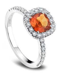 Danhov platinum engagement ring from the Pop of Color Birthstone Collection, November, Per Lei Collection.