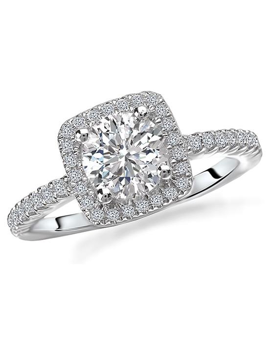 Romance Square Halo Engagement Ring Square Halo Engagement Ring