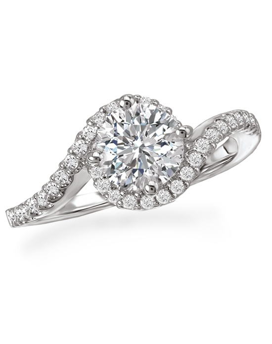 Romance Twisted Band Halo Ring Wedding Ring The Knot