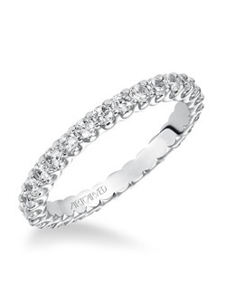 Diamond Eternity Band. Can be worn as stackable ring, wedding or anniversary band.