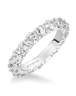 Alida, 3.00ct, classic prong set eternity band