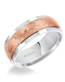Flat Tumbled stone finished flat edges comfort fit men's wedding band.  Available in Platinum, 18K White or Yellow or Rose Gold, 14K White or Yellow or Rose Gold or Palladium.
