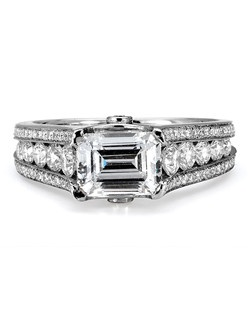 Platinum MICHAEL M engagement ring featuring 2.05 ct G,VS diamonds. Also available in 18K White, Yellow and Rose Gold.