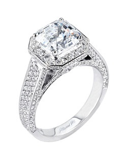 Platinum MICHAEL M engagement ring featuring 1.30 ct G,VS diamonds. Also available in 18K White, Yellow and Rose Gold.