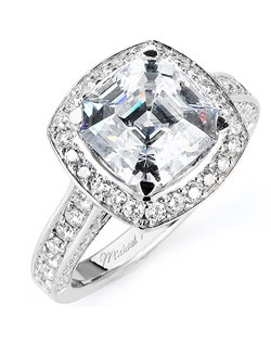 Platinum MICHAEL M engagement ring featuring 1.57 ct G,VS diamonds. Also available in 18K White, Yellow and Rose Gold.