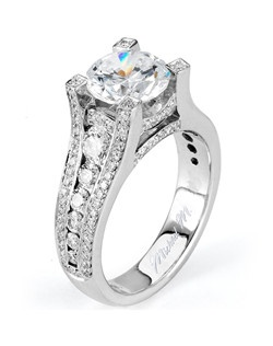 Platinum MICHAEL M engagement ring featuring 1.15 ct G,VS diamonds. Also available in 18K White, Yellow and Rose Gold.
