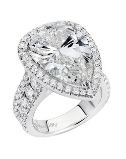 Platinum MICHAEL M engagement ring featuring G,VS diamonds. Also available in 18K White, Yellow and Rose Gold.
