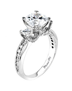 Platinum MICHAEL M engagement ring featuring 1.11 ct G,VS diamonds. Also available in 18K White, Yellow and Rose Gold.