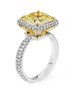 Platinum MICHAEL M engagement ring featuring 1.04 ct G,VS diamonds. Also available in 18K White, Yellow and Rose Gold.