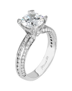 Platinum MICHAEL M engagement ring featuring 0.95 ct G,VS diamonds. Also available in 18K White, Yellow and Rose Gold.