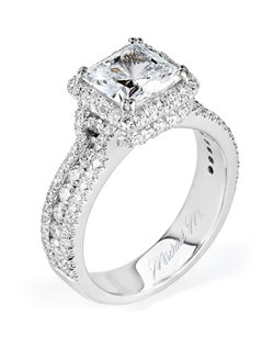Platinum MICHAEL M engagement ring featuring 1.06 ct G,VS diamonds. Also available in 18K White, Yellow and Rose Gold.