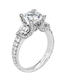 Platinum MICHAEL M engagement ring featuring 1.37 ct G,VS diamonds. Also available in 18K White, Yellow and Rose Gold.