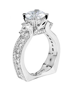Platinum MICHAEL M engagement ring featuring 1.86 ct G,VS diamonds. Also available in 18K White, Yellow and Rose Gold.