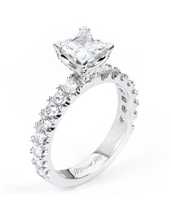 Platinum MICHAEL M engagement ring featuring 0.90 ct G,VS diamonds. Also available in 18K White, Yellow and Rose Gold.