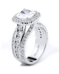 Platinum MICHAEL M engagement ring featuring 1.48 ct G,VS diamonds. Also available in 18K White, Yellow and Rose Gold.